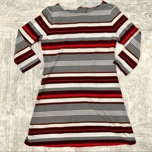 Patagonia organic cotton stripe tunic dress medium